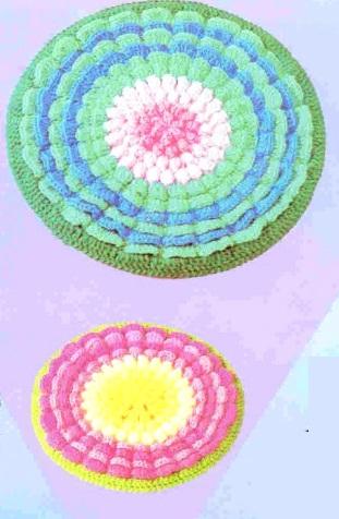 Вязание коврика крючком
